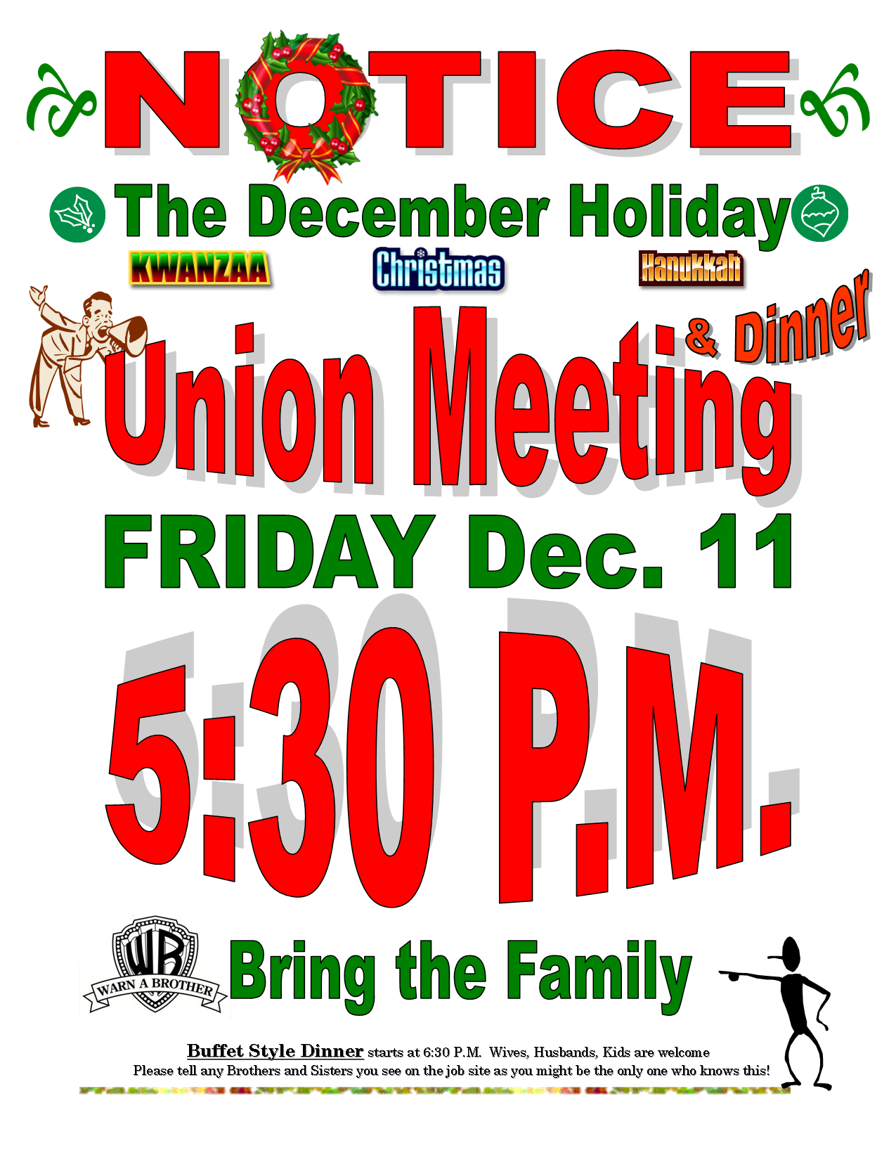 December Union Meeting